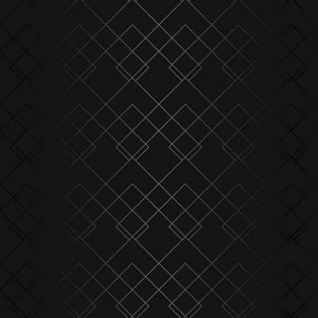 Luxury black metal gradient background with geometric seamless pattern, rhombus, rectangles and stripes