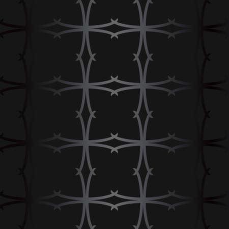 Luxury black metal gradient background with geometric seamless pattern, modern ornament 矢量图像