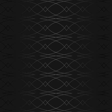 Luxury black metal gradient background with geometric seamless pattern, modern ornament Standard-Bild - 155773220