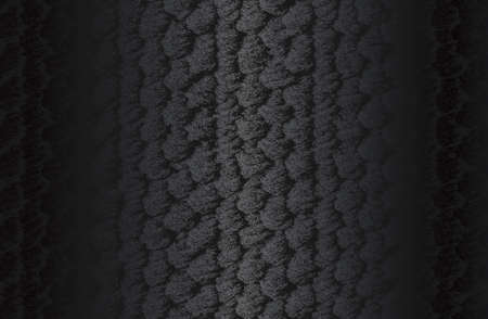 Luxury black metal gradient background with distressed weaving fabric, textile, knitted sweater texture.