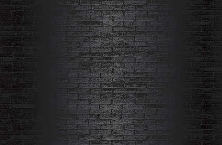 Luxury black metal gradient background with distressed brick wall texture. 免版税图像