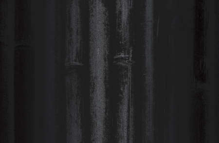 Luxury black metal gradient background with distressed bamboo texture. Standard-Bild
