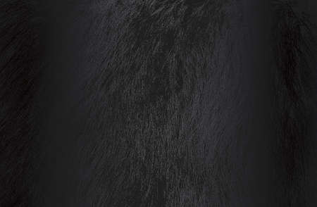 Luxury black metal gradient background with distressed natural fur texture.