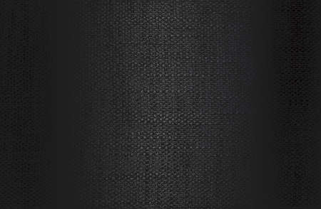 Luxury black metal gradient background with distressed fabric, textile texture.