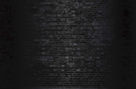 Luxury black metal gradient background with distressed brick wall texture. Standard-Bild