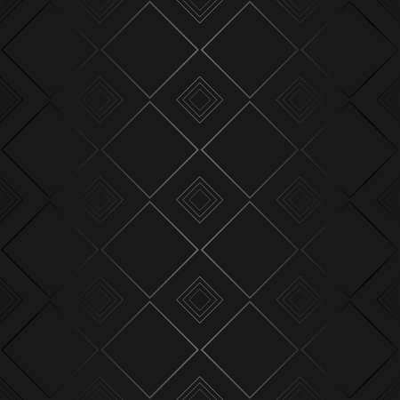 Luxury black metal gradient background with geometric seamless pattern, modern ornament Standard-Bild - 157506913