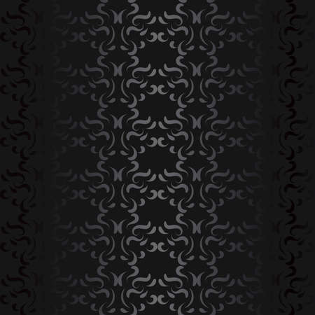 Luxury black metal gradient background with geometric seamless pattern, modern ornament Illustration