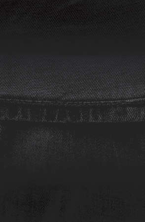Luxury black metal gradient background with distressed fabric, jeans textile texture. Vector illustration Standard-Bild