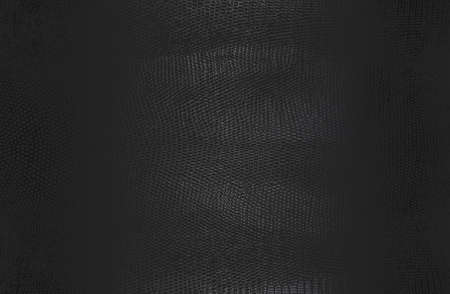 Luxury black metal gradient background with distressed crocodile, snake, alligator skin leather texture. Vector illustration