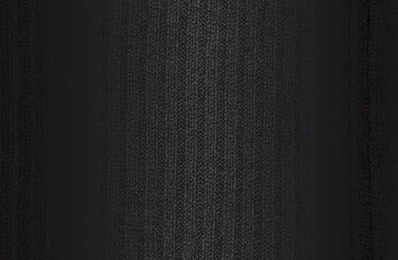 Luxury black metal gradient background with distressed weaving fabric, textile, knitted sweater texture. Vector illustration