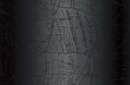 Luxury black metal gradient background with distressed cracked concrete, marble, granite texture. Vector illustration