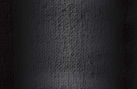 Luxury black metal gradient background with distressed fabric, textile texture. Vector illustration Standard-Bild
