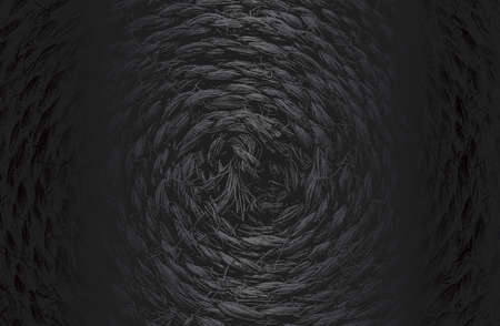 Luxury black metal gradient background with distressed wicker vine texture. Vector illustration