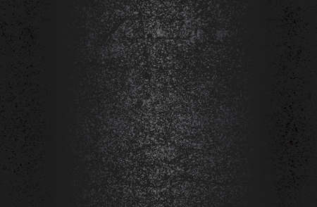 Luxury black metal gradient background with distressed metal plate texture. Vector illustration