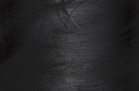 Luxury black metal gradient background with distressed natural human hair, locks, wig texture. Vector illustration