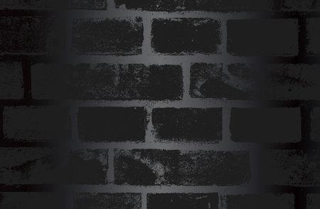 Luxury black metal gradient background with distressed brick wall texture. Vector illustration Archivio Fotografico - 161345041