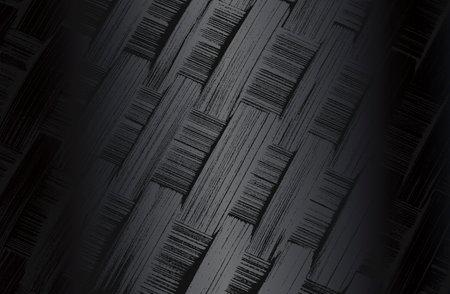 Luxury black metal gradient background with distressed wicker vine texture. Vector illustration