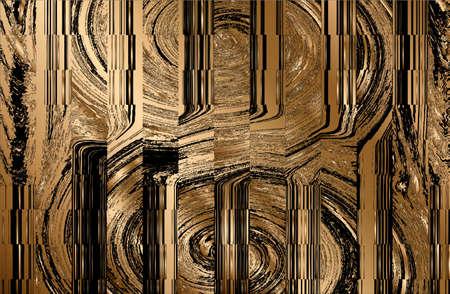 Luxury abstract black, golden metal gradient background. Vector illustration