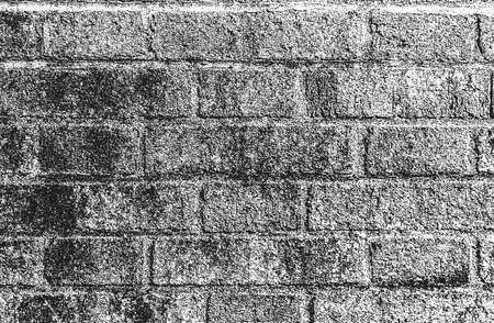 Distressed overlay texture of old brick wall