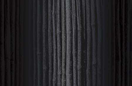 Luxury black metal gradient background with distressed wooden parquet, bamboo texture.