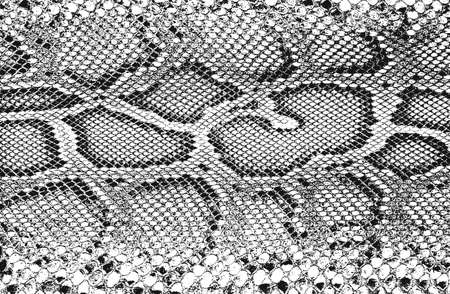 Distressed overlay texture of crocodile or snake skin leather, grunge background. abstract halftone vector illustration Vecteurs