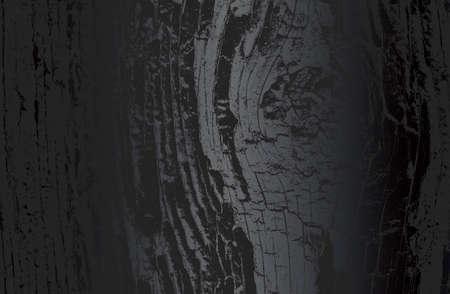 Luxury black metal gradient background with distressed wooden parquet texture. Vector illustration Illustration