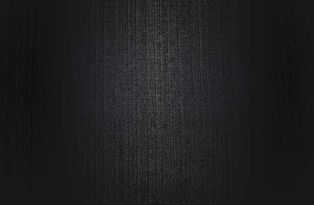 Luxury black metal gradient background with distressed fabric, textile texture. Vector illustration Illustration