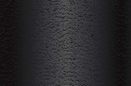 Luxury black metal gradient background with geometric seamless pattern, modern ornament Illustration