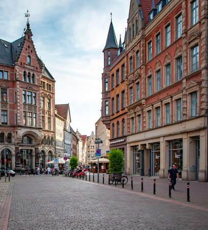 HANNOVER, GERMANY. JUNE 19, 2021. Beautiful view on a small european street.