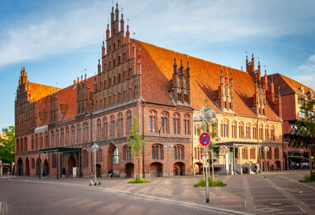 HANNOVER, GERMANY. JUNE 19, 2021. Old City Hall and Market Church in Old Town district
