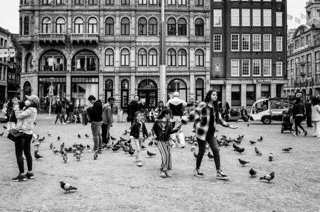 AMSTERDAM, NETHERLANDS. JUNE 06, 2021. Dam Square Beautifull view of the city