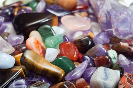 semiprecious: Close-up of colorful semi-precious stones