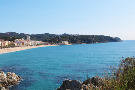 lloret de mar Spain coast Stock Photo