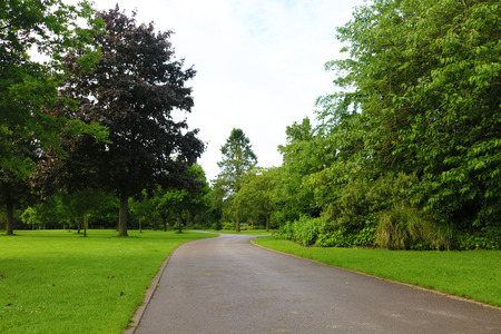Birmingham Kings heath park path Stock Photo - 80768202