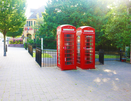 British telephone box Birmingham england Stock Photo - 80694081