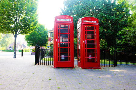 British telephone box Stock Photo - 80694082
