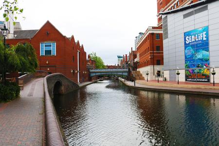 UK England Birmingham broad street canal