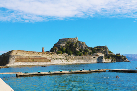 Corfu Greece fortress Editorial