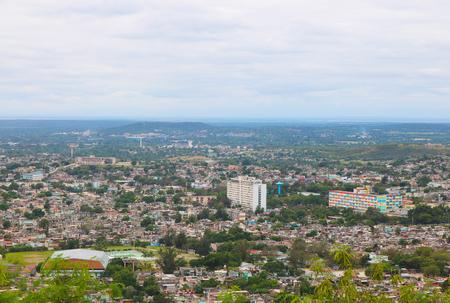Cuba holguin town mountain view