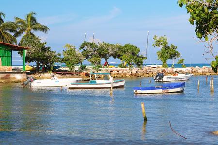 Holguin Cuba boat harbour Editorial