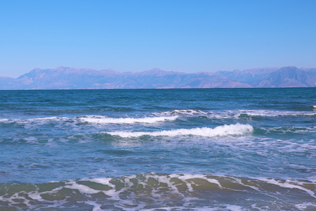 Greece Corfu ocean waves Stock Photo