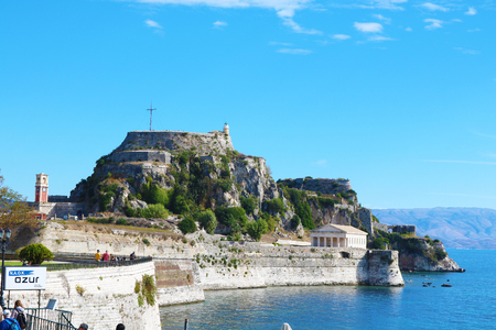The old fortress Corfu Greece Editorial