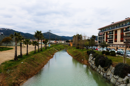 River in spain pin in de mar Stock Photo
