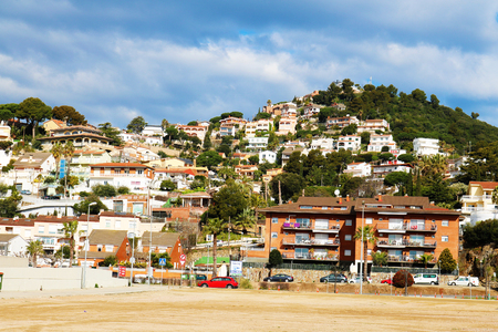 Houses on hill top Stock Photo - 99599474