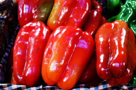 Red big peppers Stock Photo - 99330592