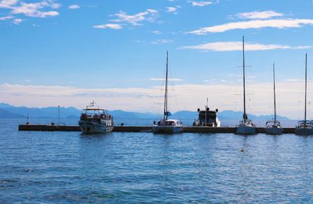 Greece corfu boat harbour