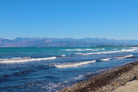 Corfu Greece beach Stock Photo