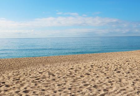 Beach in lloret de mar Spain