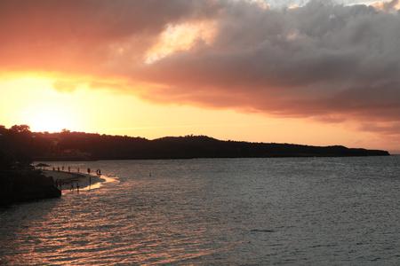 Sun setting in Cuba holguin