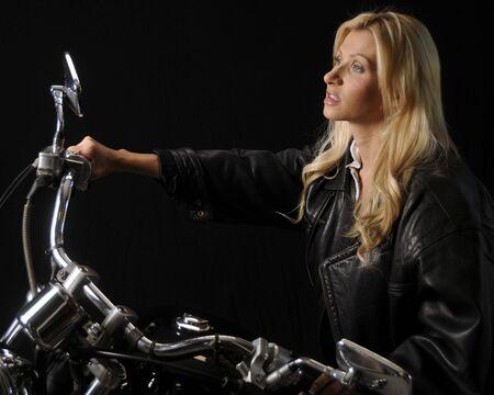 motorrad frau: Motorrad Woman
